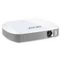 Проектор Acer projector C205, FWVGA/DLP/LED/150 Lm/1000:1/30000 Hrs/HDMI(MHL)/2Wx2/Battery/Wi-Fi via Adapter(option)/302g